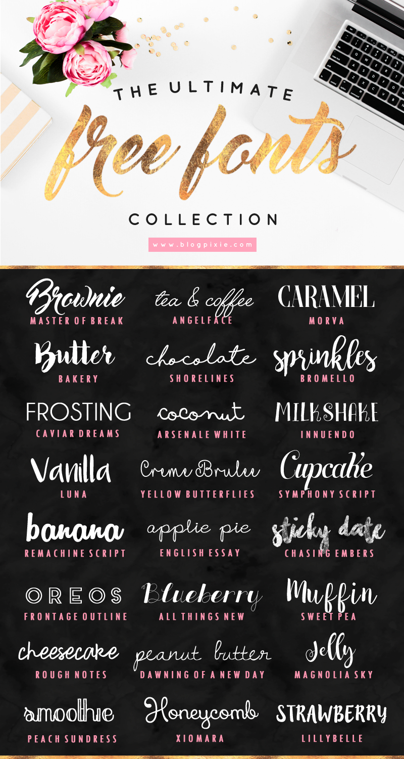 The ultimate free fonts collection to download for your blog ...