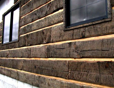 Standard kiln dried lumber which has been distressed for Buy log siding