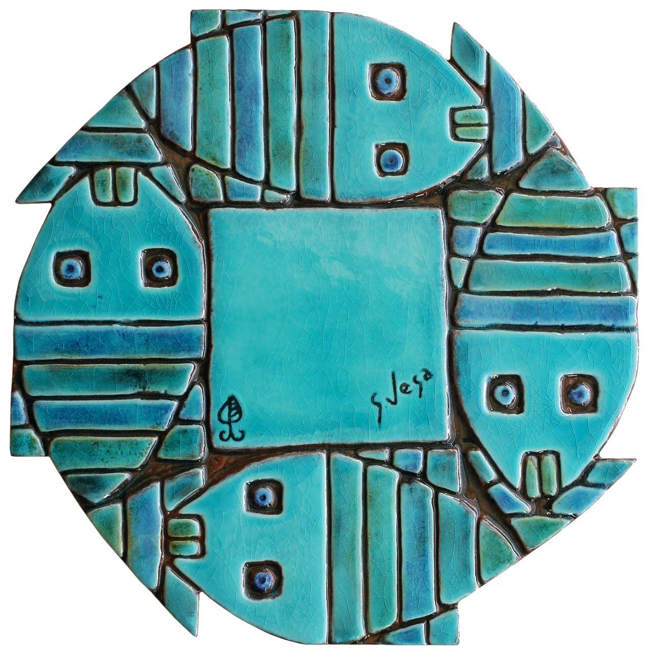 gvega - Fish ceramic wall art, €69.00 (http://www.gvega.com/fish-ceramic-wall-art/)
