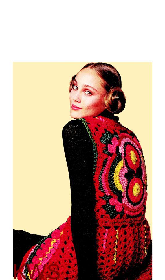 Vintage 70\'s Crochet Pixie Vest PDF Pattern - Digital Pattern ...