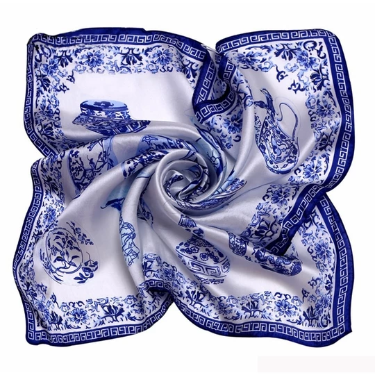 Fashion White 100 Silk Square Scarf Women Bandana Women Kerchief Satin Foulard Joker Summer Neck Scarves 53 53cm 9043 Womens Scarves Neck Scarves Square Scarf