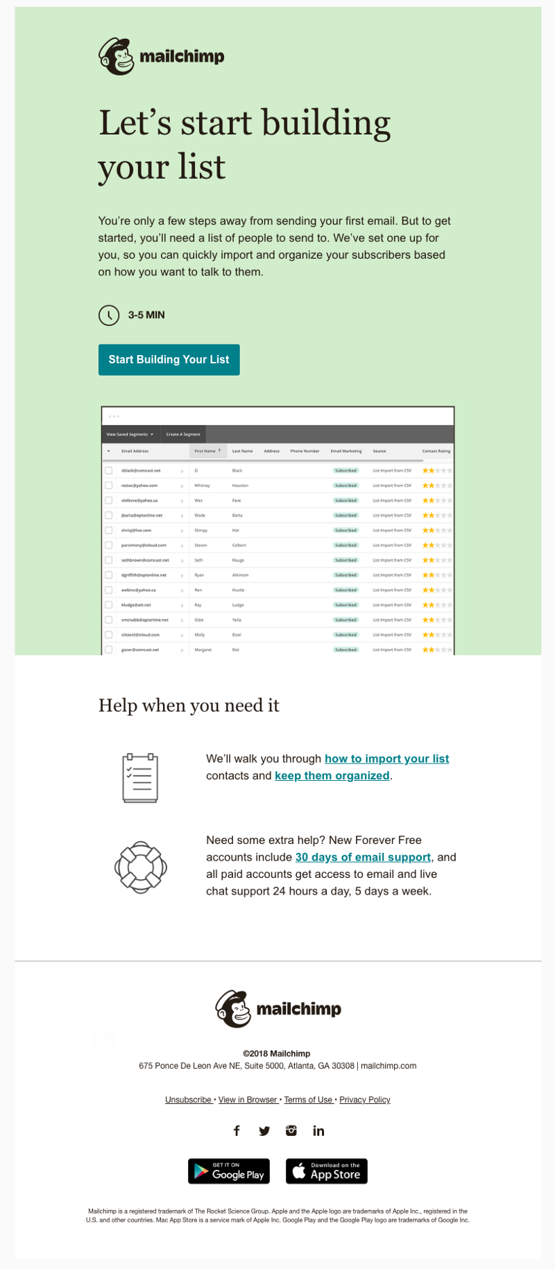 Build Your List With A Little Help From Us Onboarding Saas Mailchimp
