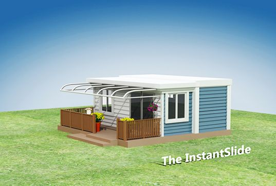 Instantslide Prefab House Pops Up In A Minute With The Push Of A