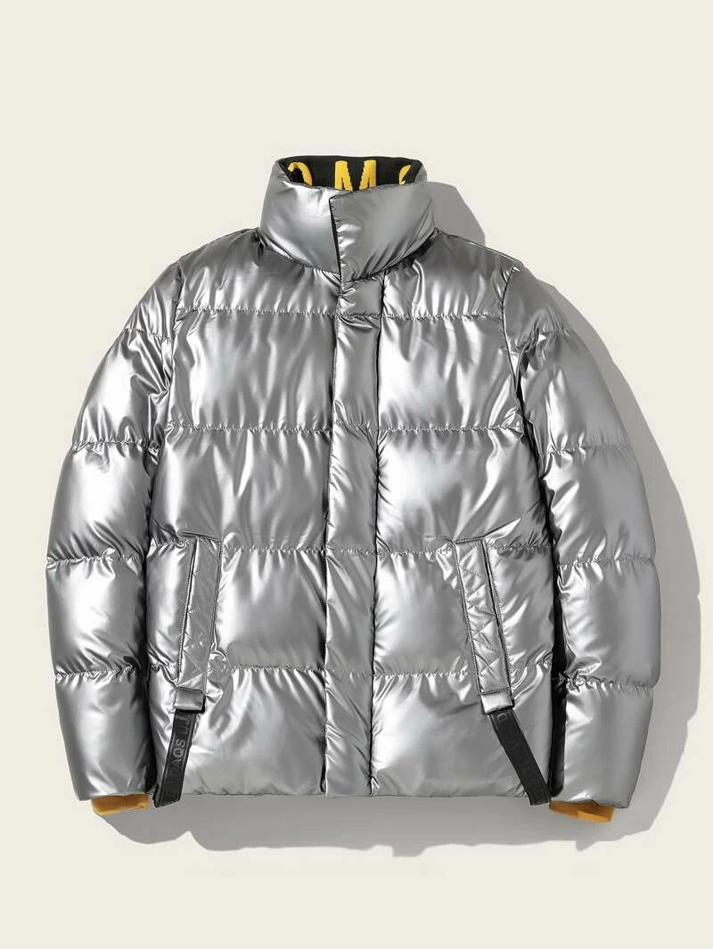 Guys Funnel Neck Metallic Puffer Jacket Jackets Puffer Jackets Guys [ 1065 x 800 Pixel ]
