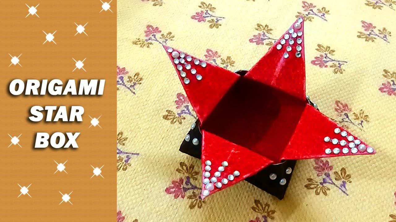 How to make an Origami Star Box Easy - Paper Box Instructions for ... | 720x1280