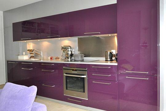 avant/après : 9 cuisines d'internautes rénovées avec bonheur ... - Meuble Cuisine Violet