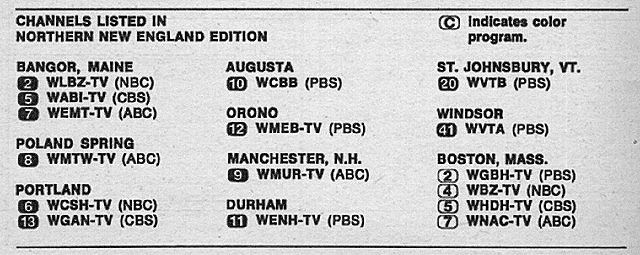 Northern New England Edition (April 3, 1971) | TV Guide