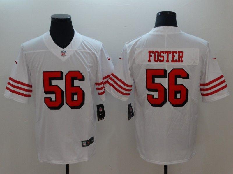 46257589203 Nike 49ers 56 Reuben Foster White Color Rush Vapor Untouchable Limited  Jersey