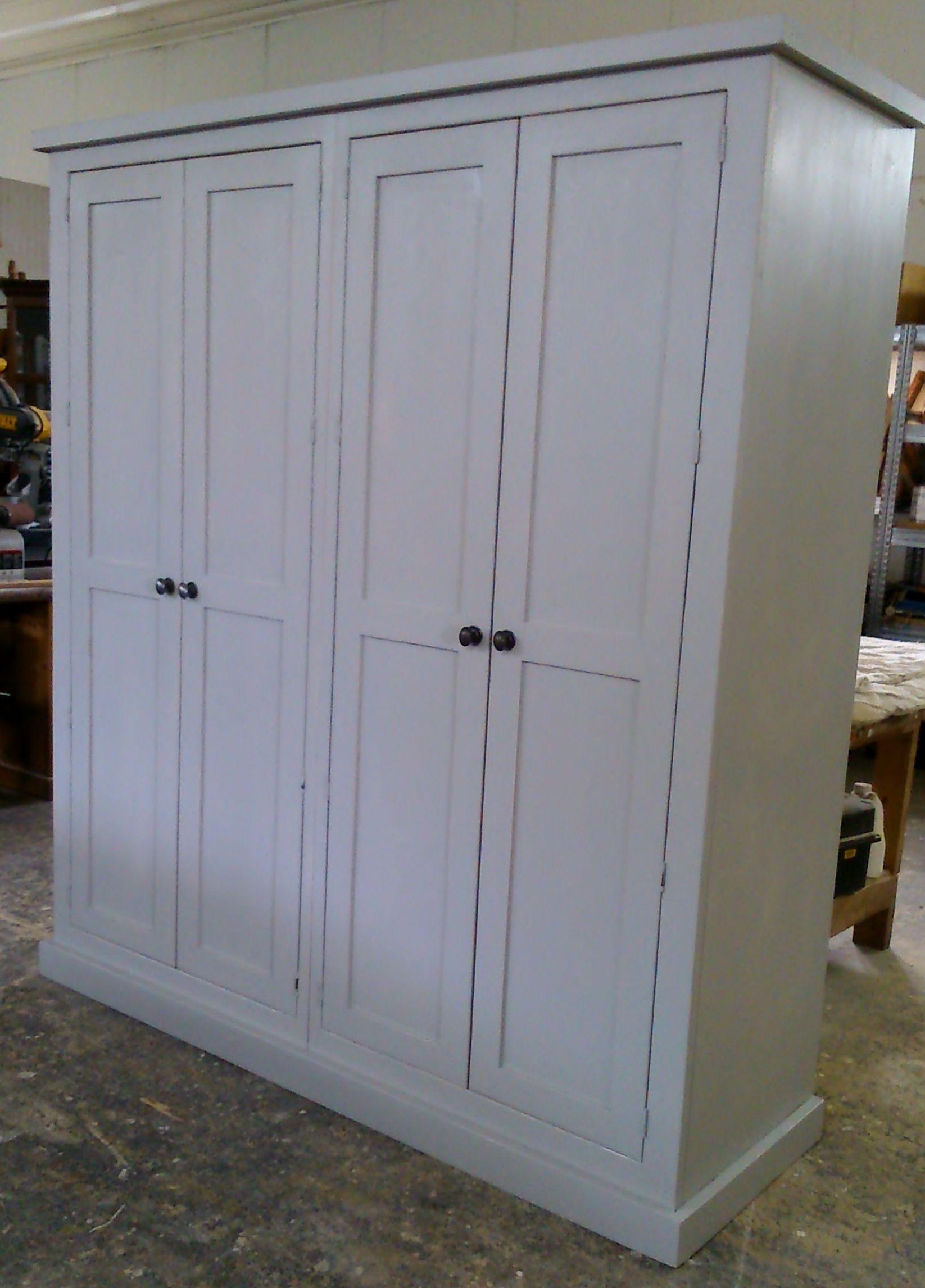 Cabinet maker bespoke pine furniture oak furniture bespoke - Bespoke Knockdown Solid Reclaimed Pine Wardrobe Painted In Farrow Ball Pavillion Grey Pine Wardroberecycled Furniturefarrow