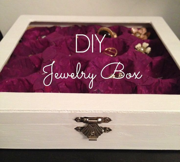 Top 10 DIY Jewelry Box Ideas Diy jewelry box Box and Craft