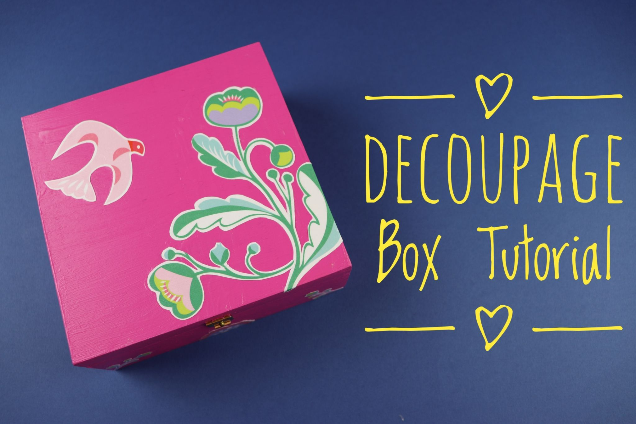Super Easy Decoupage Box Tutorial Crafts N Creations Decoupage Box Craft Tutorials Decoupage