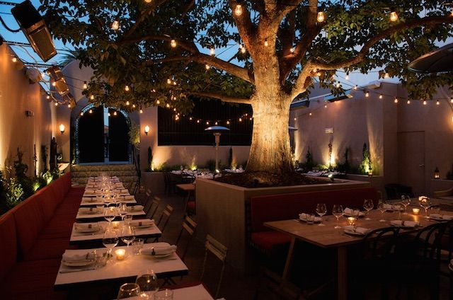 14 Romantic Restaurants In Los Angeles Outdoor Restaurant Design Romantic Restaurant Outdoor Restaurant Patio