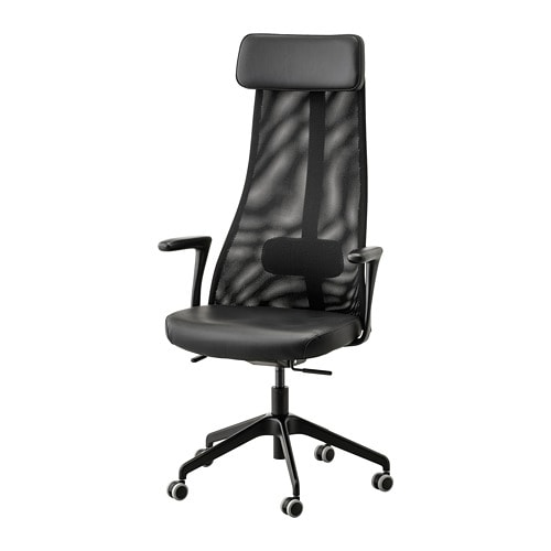 Jarvfjallet Office Chair With Armrests Glose Black Ikea Chair Ikea Office Chair Ikea