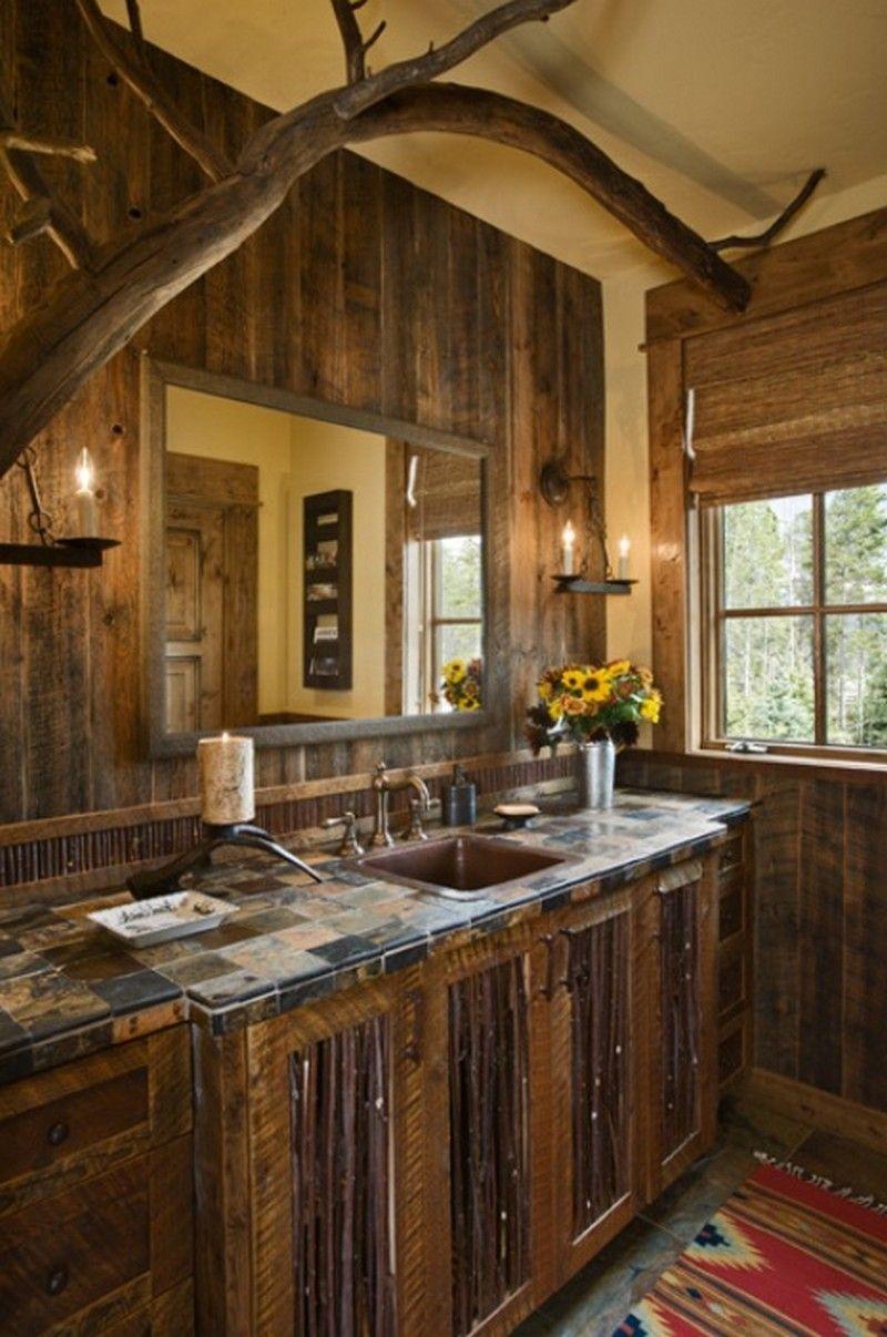 25 Rustic Bathroom Design Ideas Badezimmer Rustikal Rustikale Bader Und Rustikales Wohnzimmer