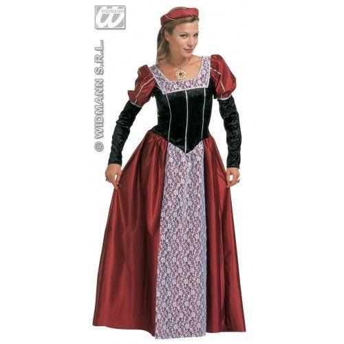Widmann 35483 - Costume dama Adulto, include abito, copricapo e velo