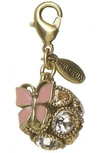 Pilgrim Charms Butterfly And Globe Charm
