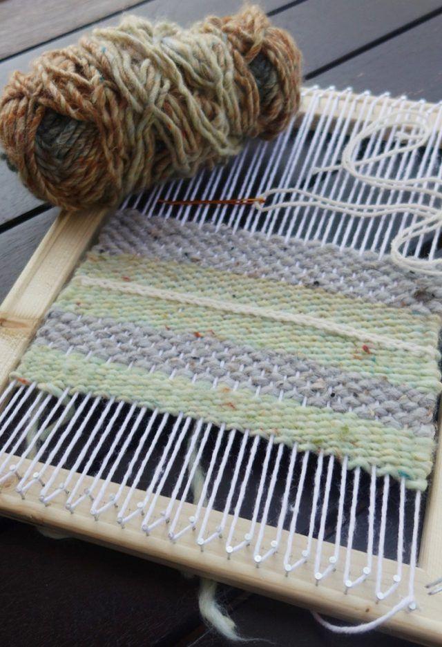 DIY Simple Weaving Loom Tutorial   Pinterest   Weaving looms, Simple ...