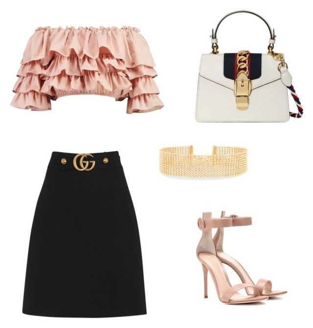 """""""#BP"""" by victoriabajer on Polyvore featuring moda, Boohoo, Gucci, Gianvito Rossi i Lydell NYC"""