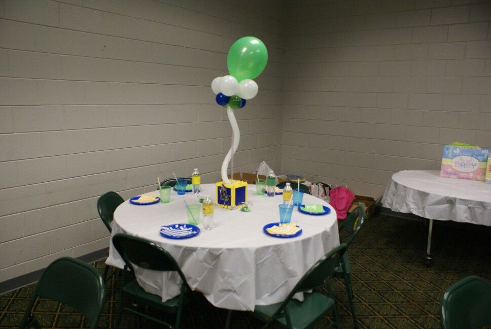 Polo baby shower table decorations