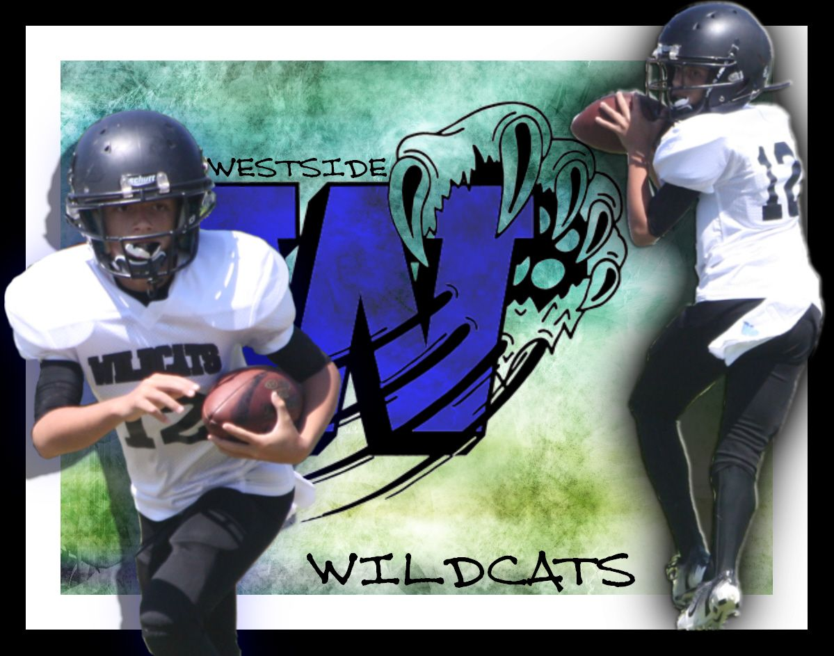Football Sports Poster 8 On 8 Westside Wildcats Football 2012 Champions Wild Cats Wildcats Football Sport Poster