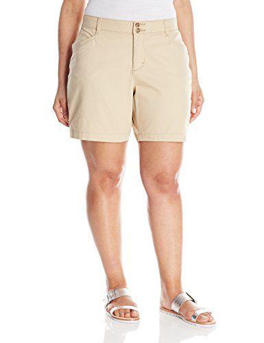 Lee Womens Plussize Comfort Fit Citrine Walk Short Sandbar 26w