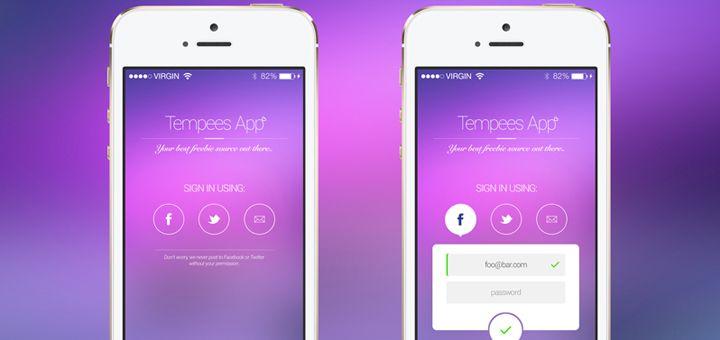 iOS App Login Screen PSD   App login, Iphone login, Ios app
