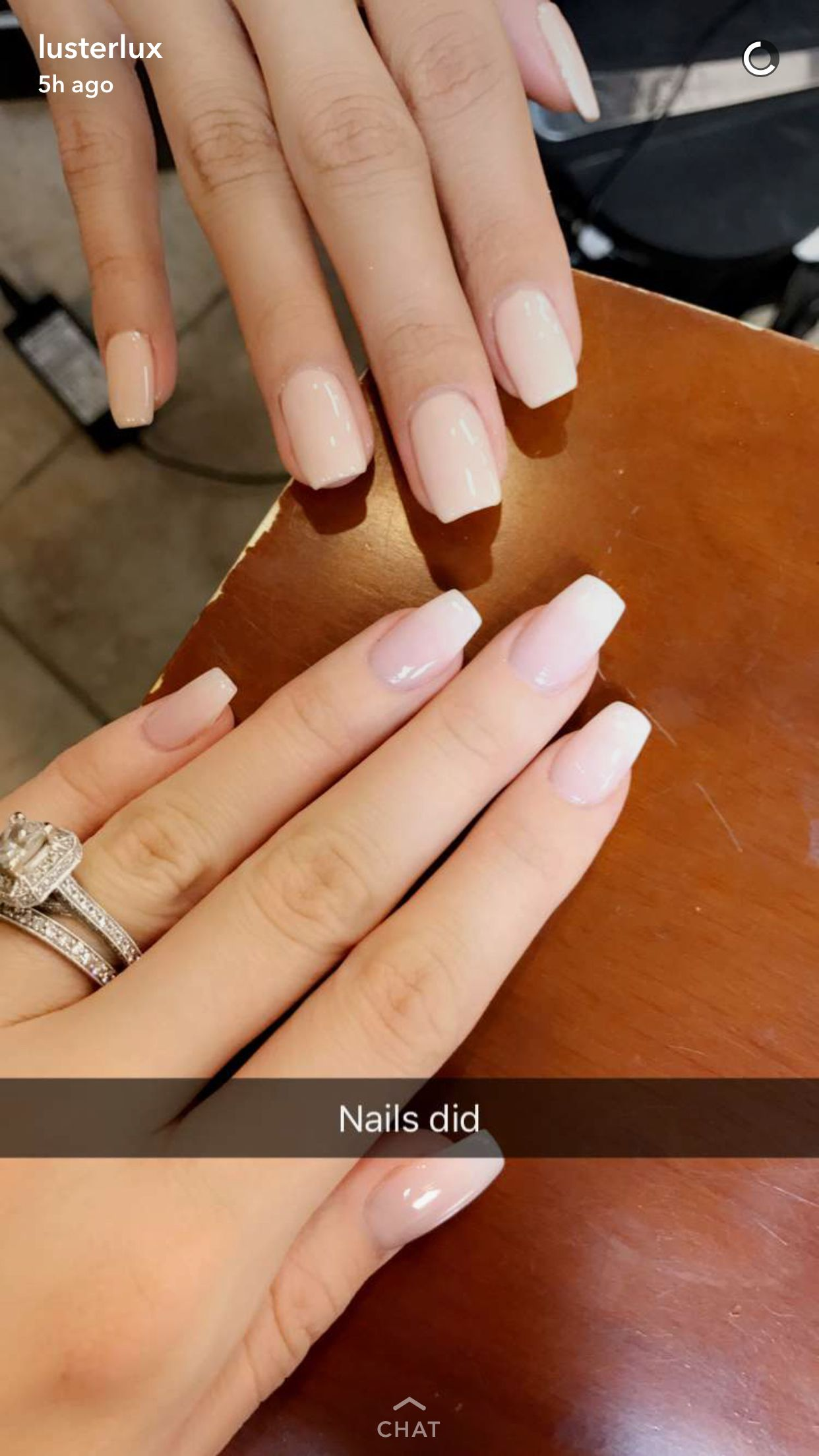 French ombré nails from @lustrelux https://noahxnw.tumblr.com/post ...