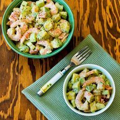 Shrimp, Avocado, and Red Pepper Salad