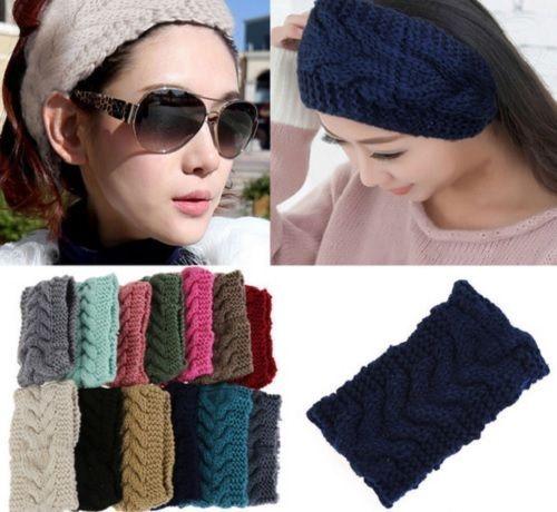 Ear Warmer Muffs Crochet Knitted Head wrap Headband Hair Band Winter WCA101 #Unbranded #Muffs