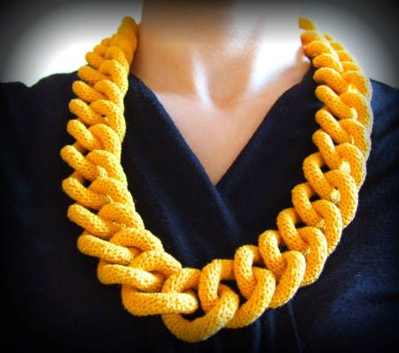 10 Fun Examples Of Chain Link Crochet Necklaces Beautiful Free