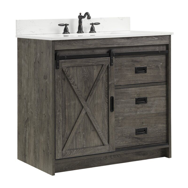 Coastal Farmhouse Jillian 36 Single Bathroom Vanity Set Reviews Wayfair In 2021 Single Bathroom Vanity Small Bathroom Vanities Bathroom Vanity