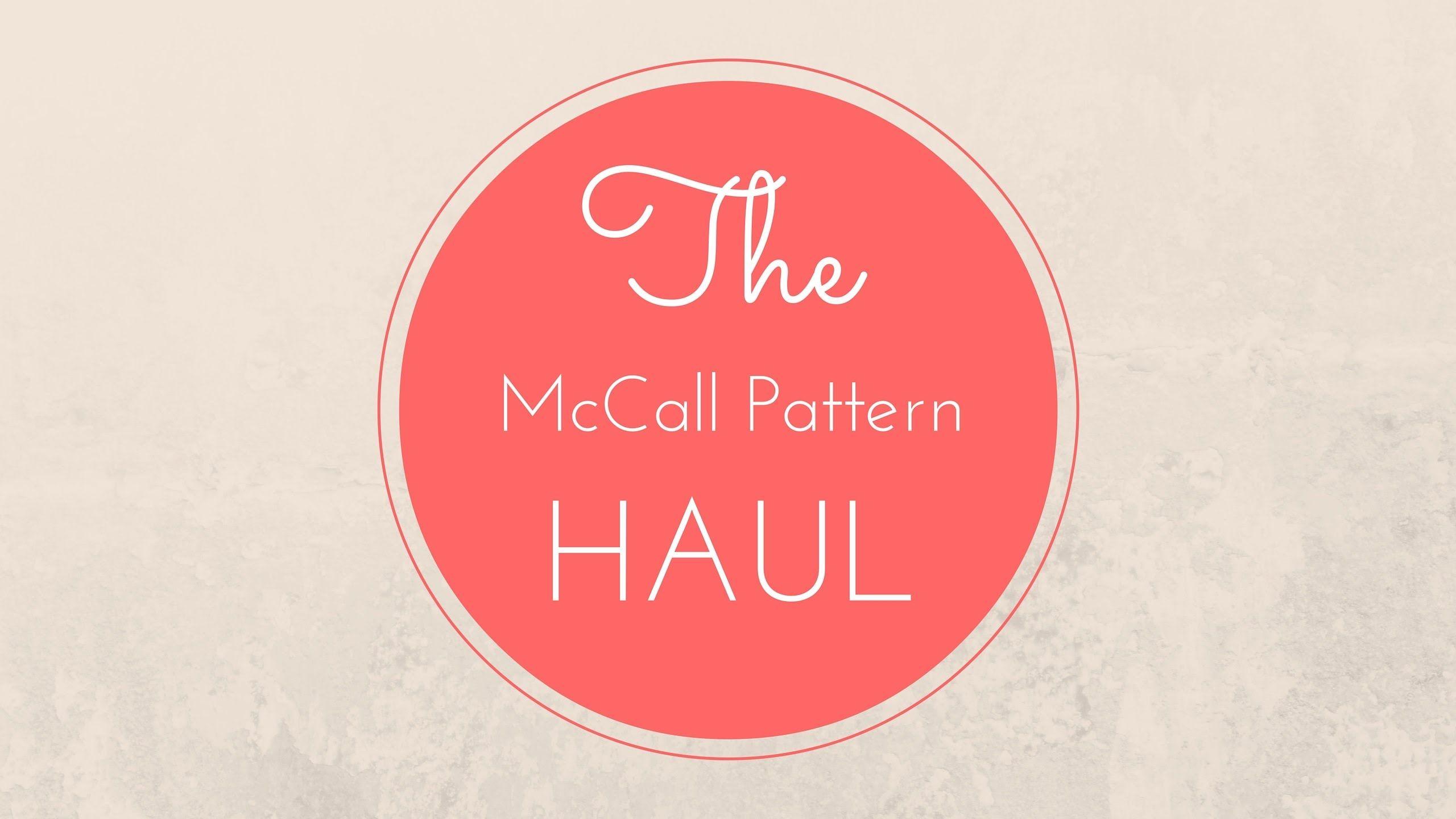 [September] McCall Pattern Haul - Video @mccallpatternco