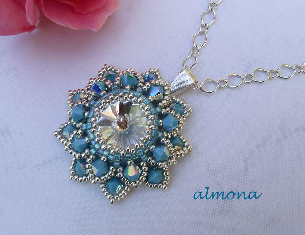rivoli with pendant beading