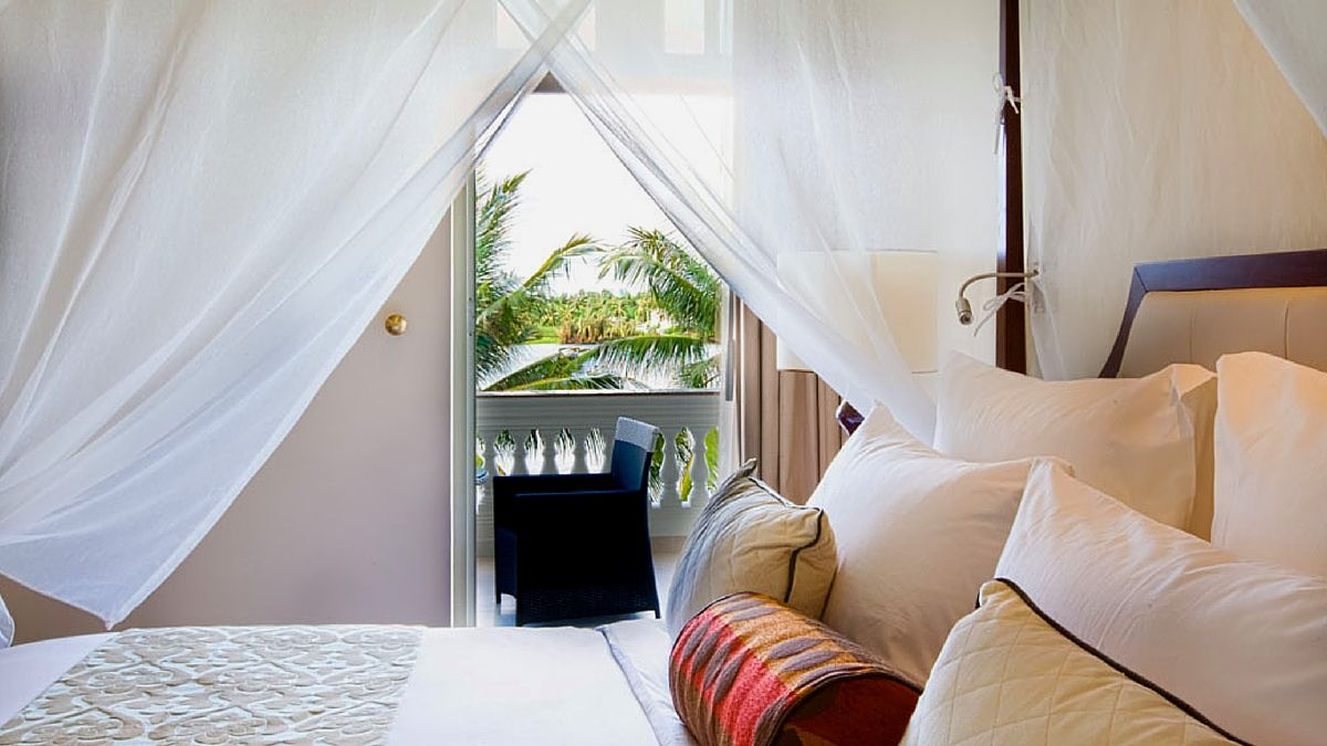 luxury hotel room with private balcony villa song wedding