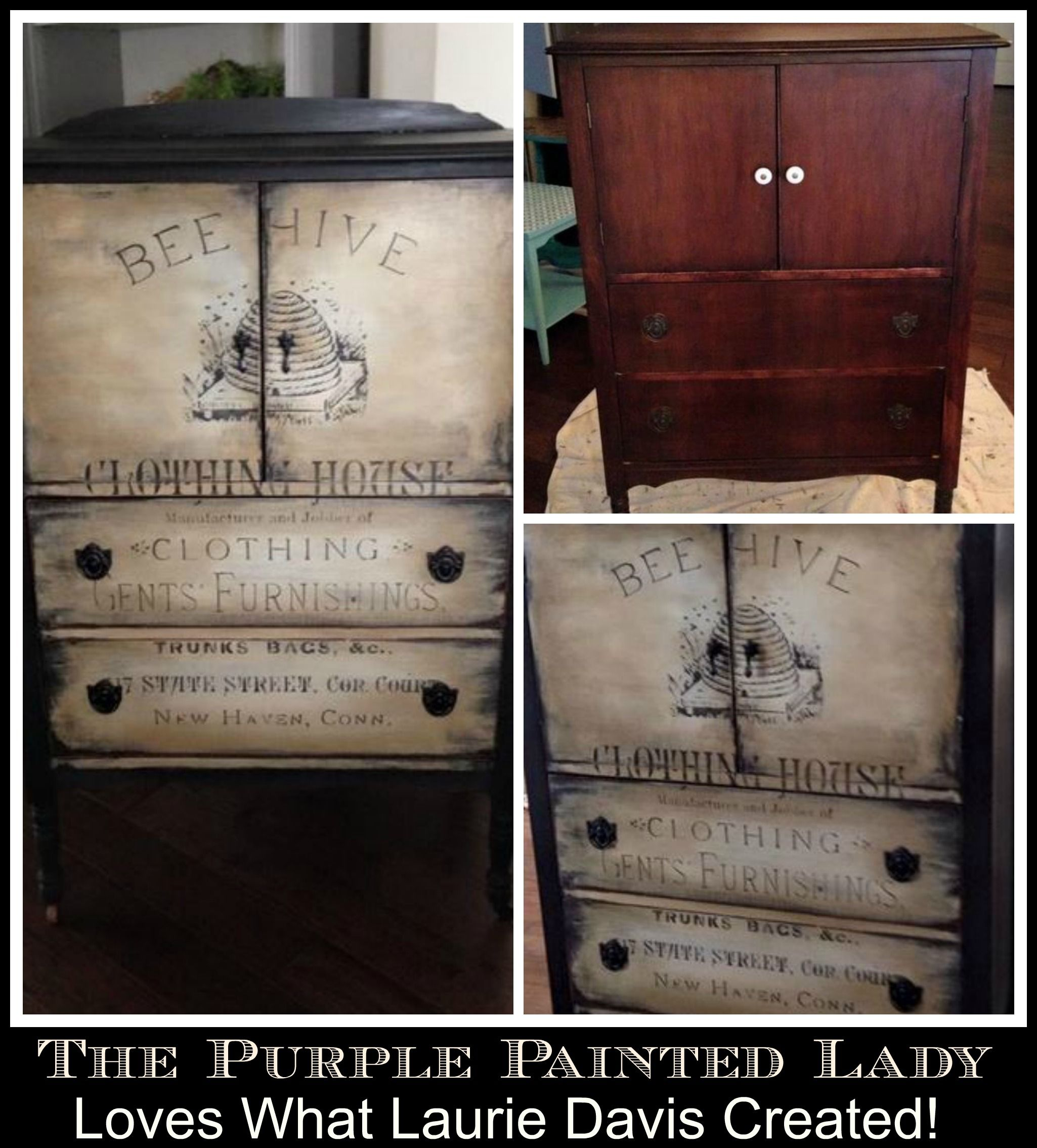Laurie Davis Dark Wax The Purple Painted Lady Chalk Paint | muebles ...