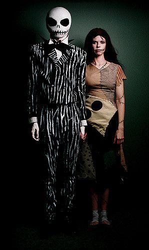 Jack and sally from the nightmare before christmas halloween jack and sally homemade fancy dress ideas diy halloween costumes solutioingenieria Gallery