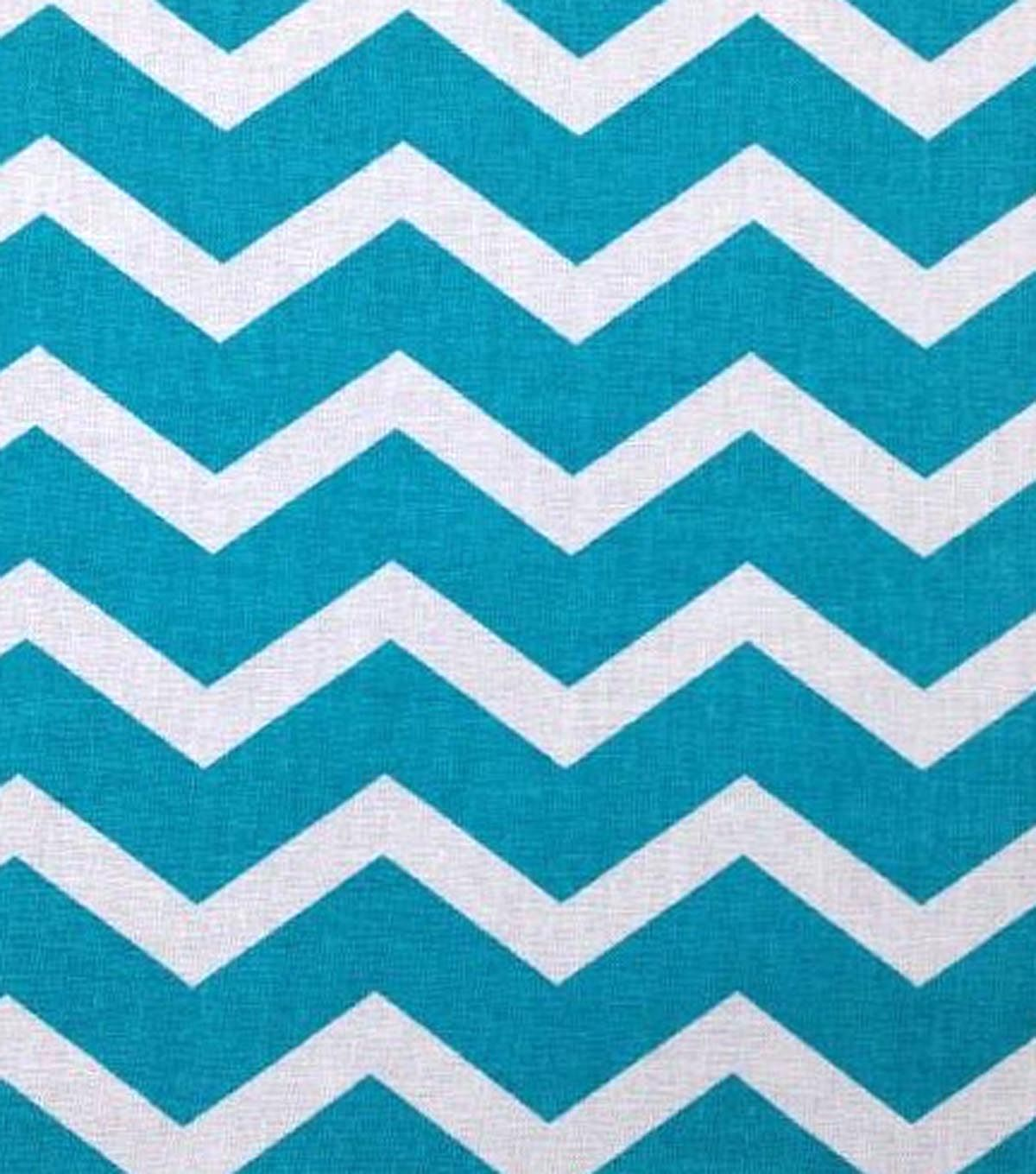Keepsake Calico Fabric- Bling It On Teal & White ChevronKeepsake ...