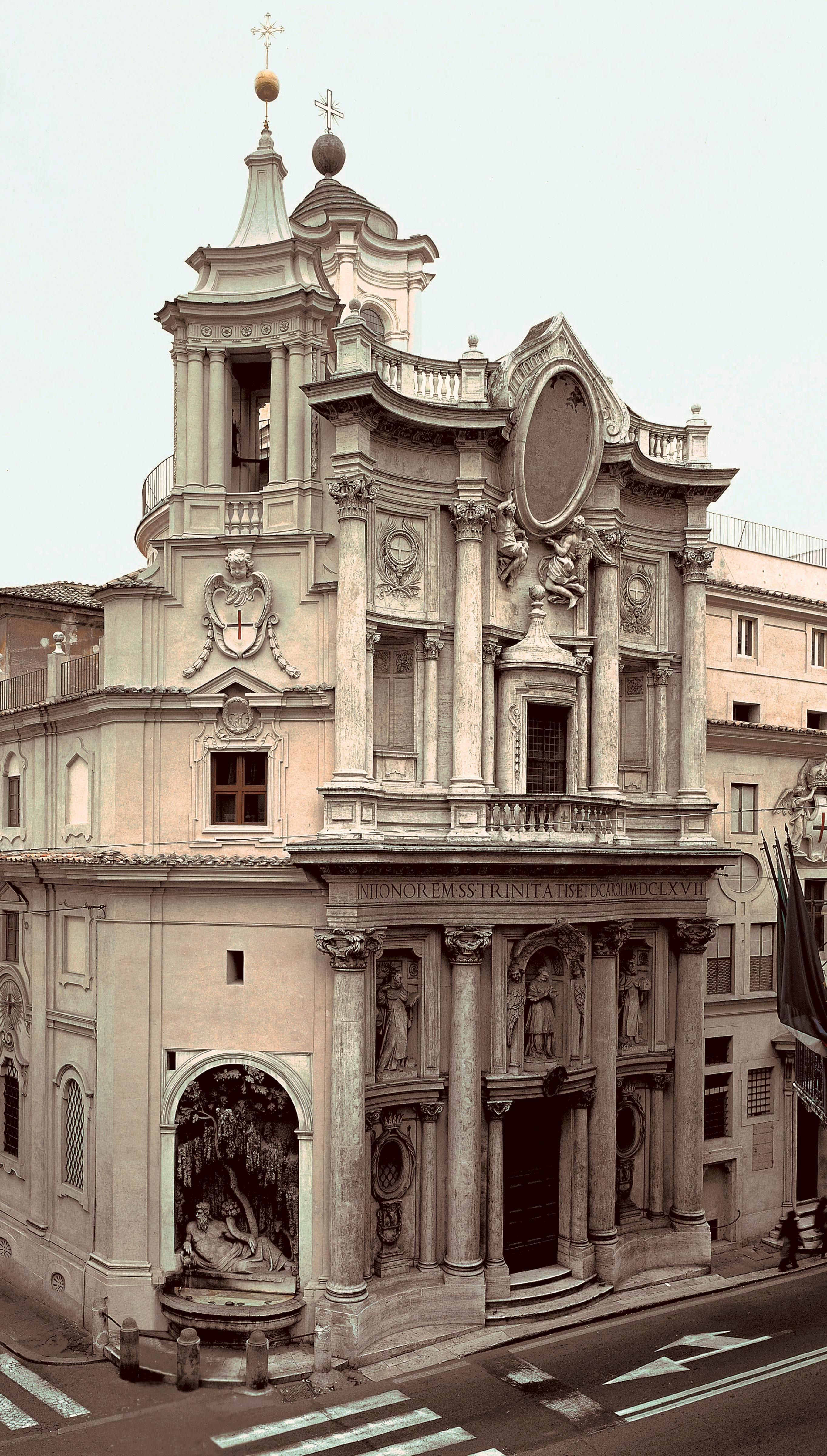 Rancesco borromini san carlo alle quattro fontane bing for Italian baroque architecture