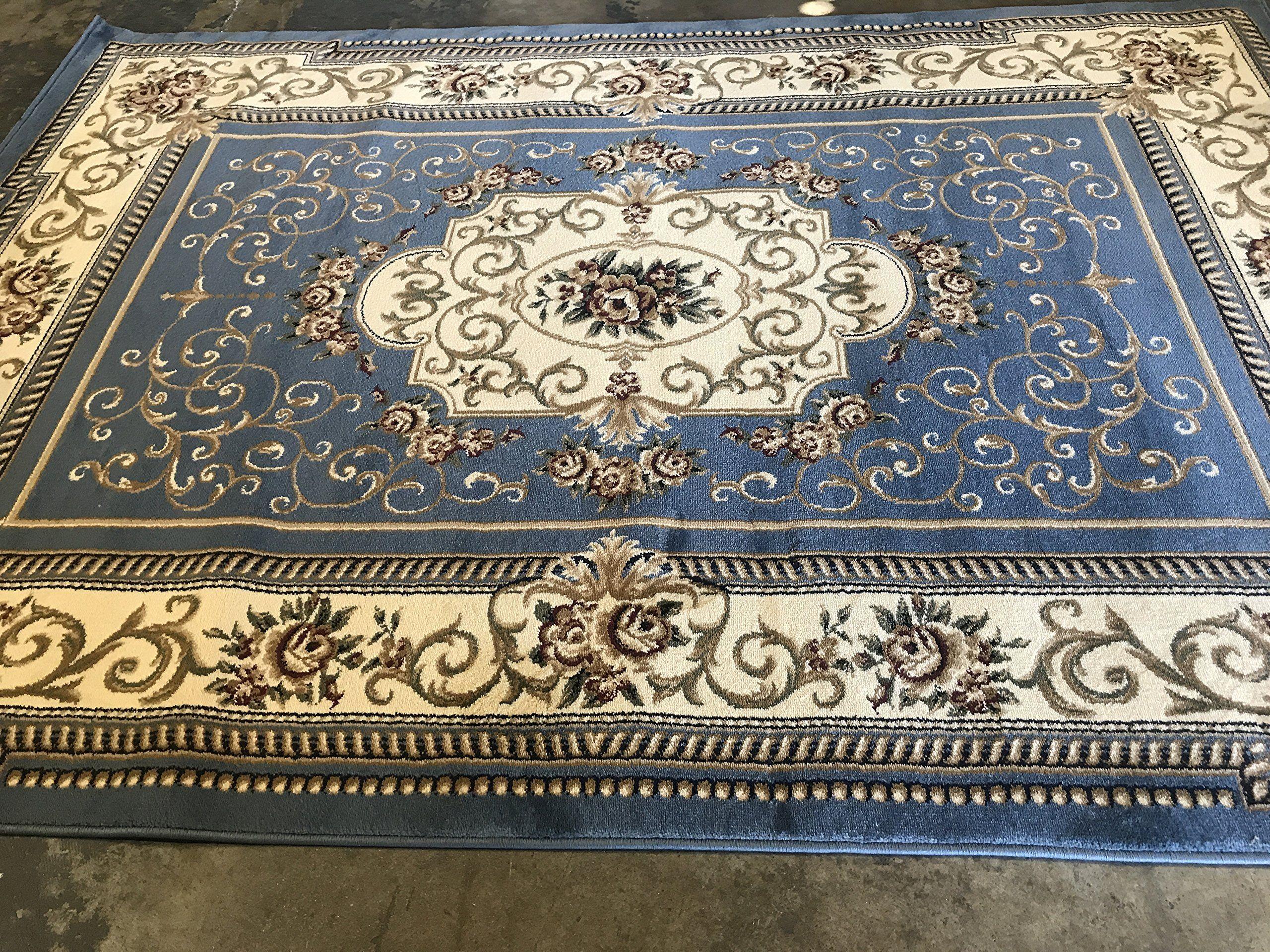 Traditional Persian Area Rug 330000 Point Deir Debwan Blue 616 5