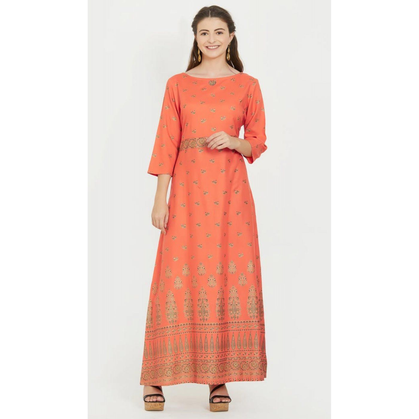 64def3e2cddb13 Charming Orange Color Rayon Party Wear Ready Made Kurtis For Girls -  404548827 30% OFF Sale  kurtis  tops  kurta  readymadekurti  fashiontops   indiankurta ...