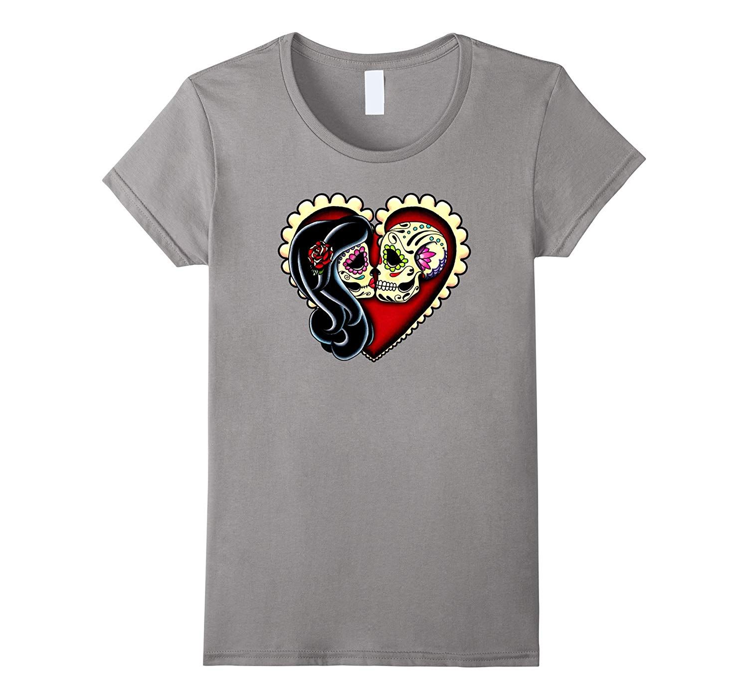 Ashes - Day of the Dead Kissing Couple - Sugar Skull Lovers-Veotee