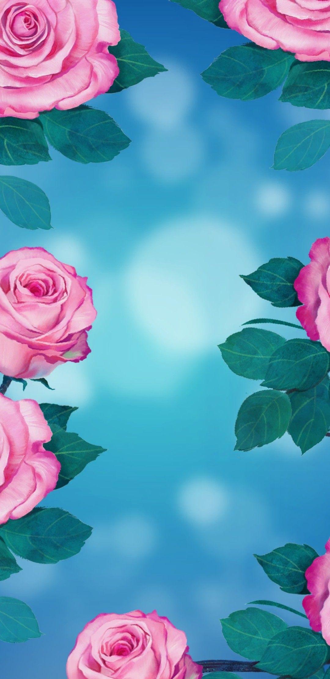 Phone Wallpaper Flowers Pink Blue Roses Iphone Wallpaper Flower Wallpaper Rose Wallpaper