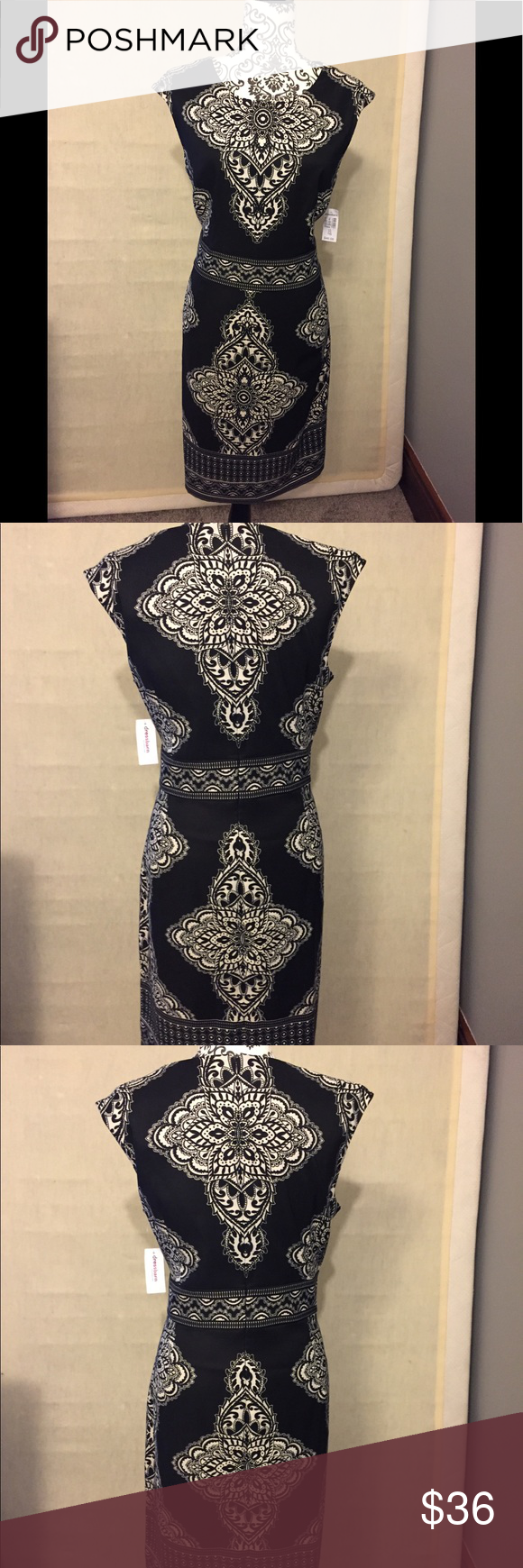 Black And Cream Patterned Dress New With Tags Dress Patterns Pattern Dresses [ 1740 x 580 Pixel ]