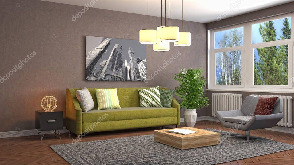 Interior Living Room Illustration Stock Photo Spon Room Living Interior Photo Ad Inredning Allrum