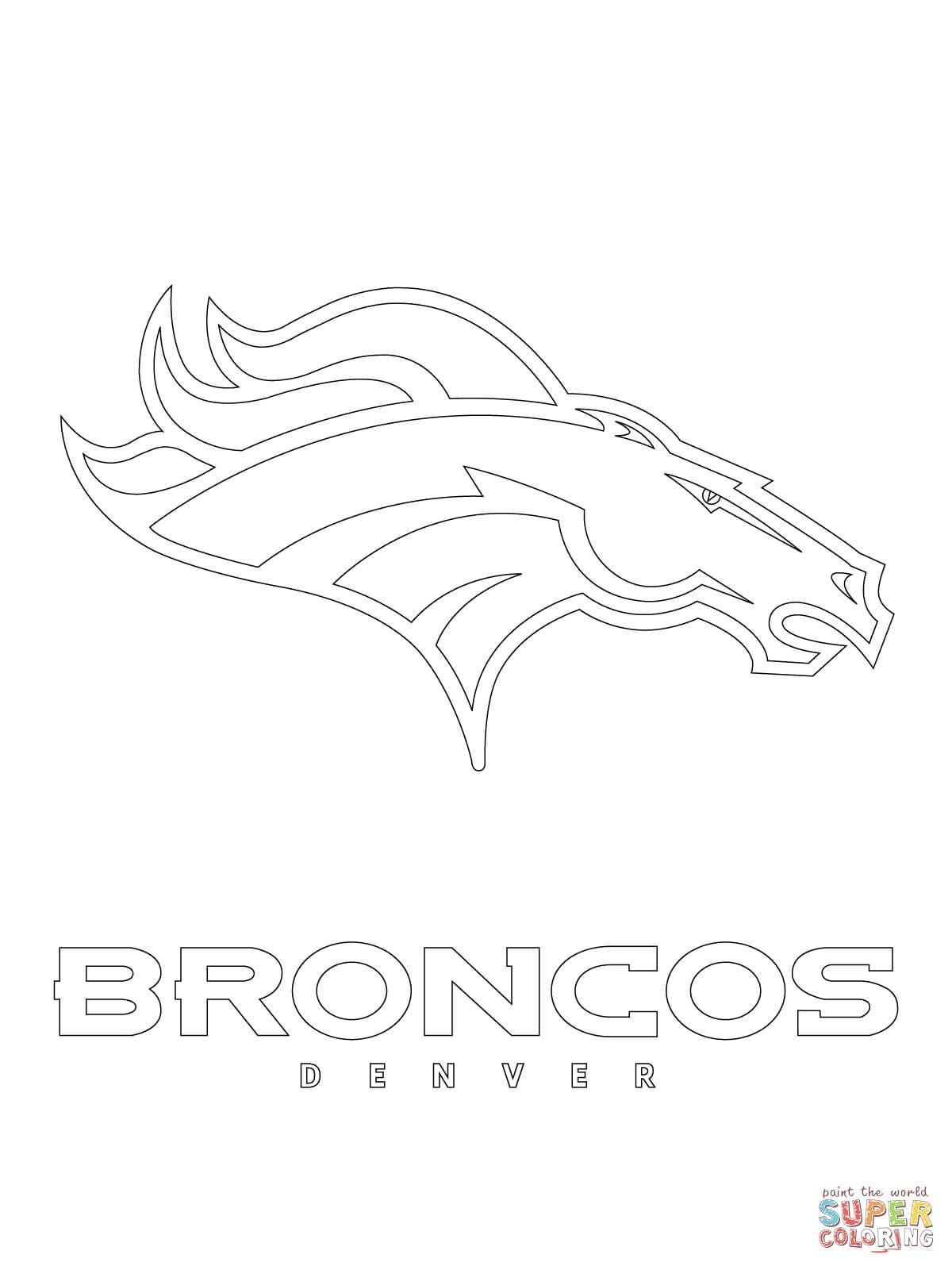 Denver Broncos Logo Super Coloring Broncos Colors Broncos