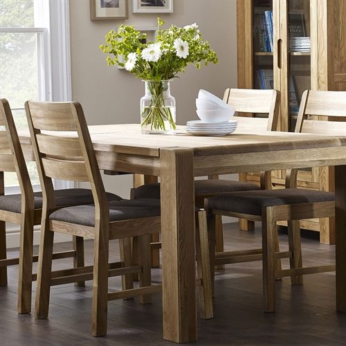 Harvington Contemporary Oak 140 180cm Ext Table With 4 Chairs