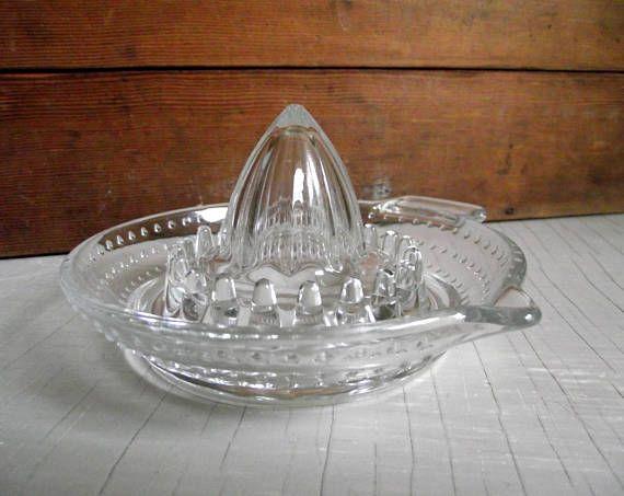 Hobnail Glass Reamer Vintage French Citrus Juicer By Arc Hobnail Glass Reamers Vintage Kitchen