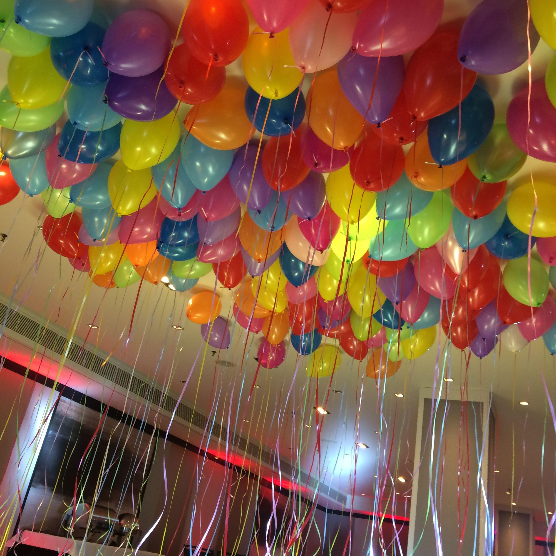 Decoraç u00e3o com baloes coloridos Decoraç u00e3o Fim de Ano Decoraç u00e3o com balões, Decoraç u00e3o com  -> Decoração De Festa Com Balões No Teto