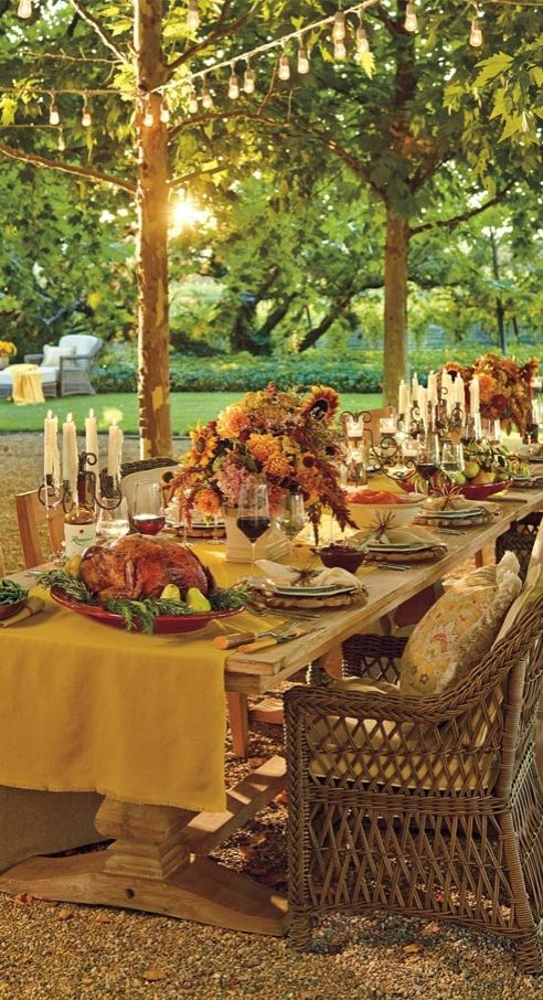Set The Most Beautiful Thanksgiving Table Frontgate Blog Outdoor Thanksgiving Thanksgiving Dinner Table Decorations Thanksgiving Table