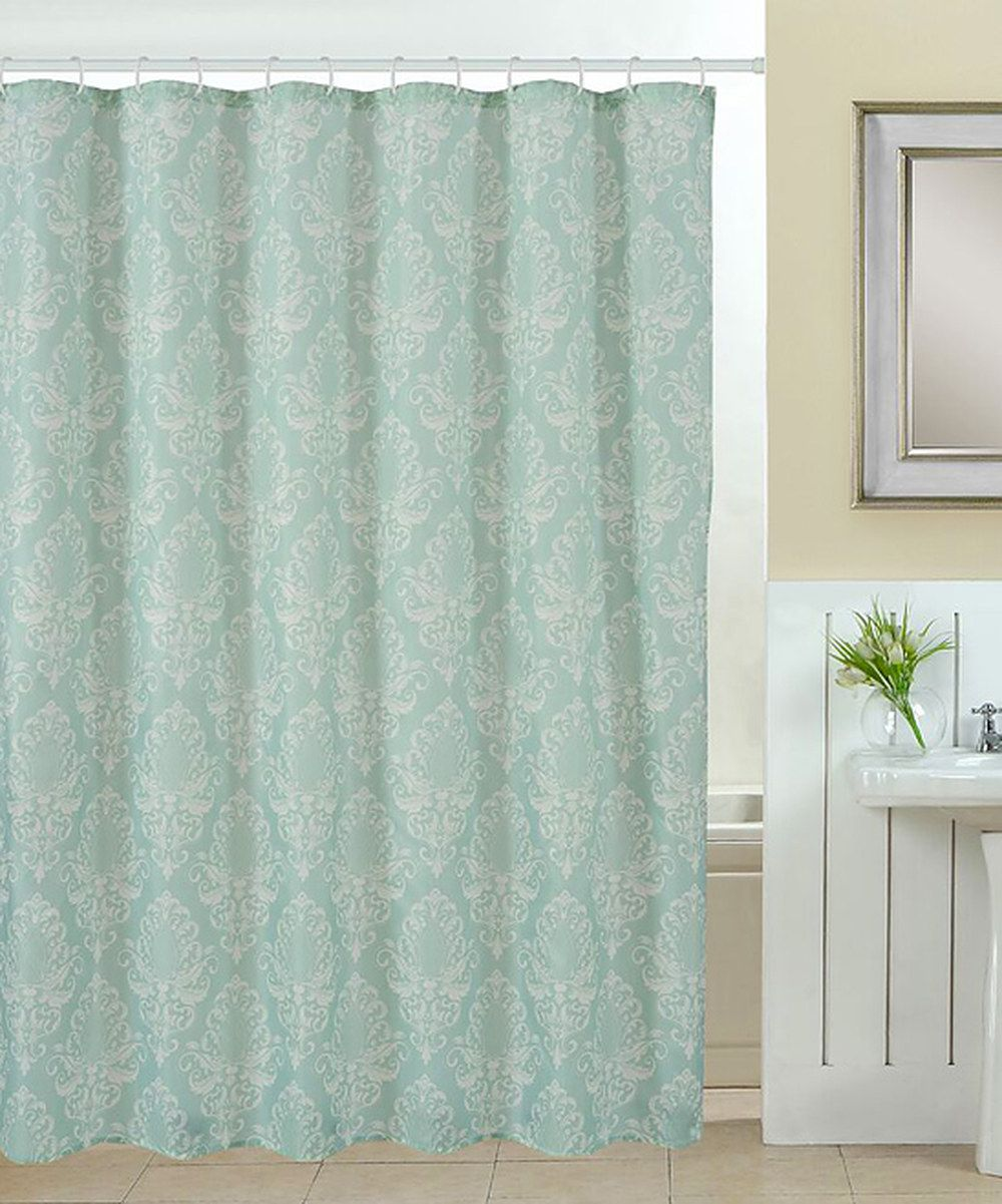 Look At This Green Elegance Shower Curtain Roller Hook Set On